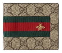 Brieftasche aus GG Supreme mit Webstreifen