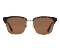 Sonnenbrille mit rechteckigem Rahmen aus Metall