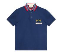 Poloshirt aus Baumwolle mit Gucci Animalium-Motiv