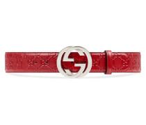 Gürtel aus Gucci Signature Leder und