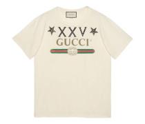 T-Shirt mit Gucci Logo und Sternen