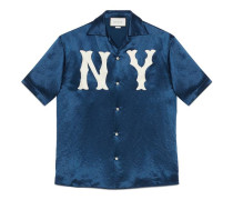 Bowling-Shirt mit NY-Yankees-Patch
