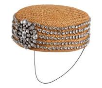 Hut aus Papier mit Kristallen