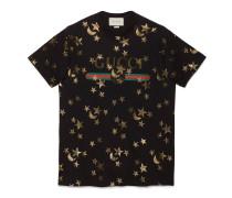 T-Shirt mit Sterne- und Mond-Print