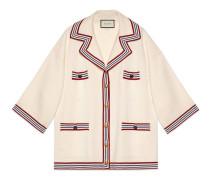 Cardigan aus Seide und Baumwolle mit Streifen
