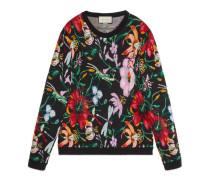 Pullover mit Blumen-Motiv mit Perlen