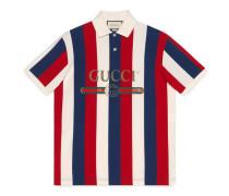 Poloshirt mit Baiadera-Motiv und Gucci Logo