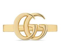 Doppel G Ring aus Gelbgold