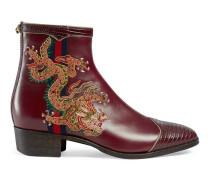 Stiefel aus Leder mit Drachen