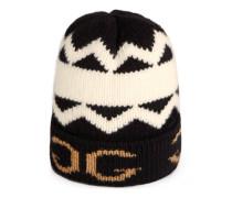 Mütze aus Wolle mit gespiegeltem GG