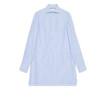Übergroßes Hemd aus Baumwolle mit Taschen