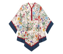 Kleid im Kimono-Stil mit Flora-Print