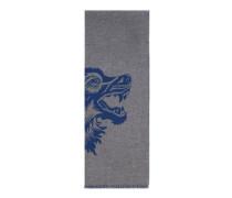 Schal aus Wolle mit Wolf-Jacquard
