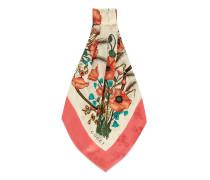 Schal aus Seide mit Mohnblumen-Print