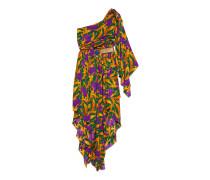 Kleid aus Seide mit Blumen
