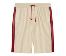 Shorts aus Leder mit Gucci Pool-Patch
