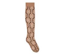 Socken aus GGRauten-Jacquard