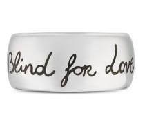 """Blind for love"" Ring in Silber"