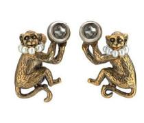 Affen-Ohrringe mit Glasperlen