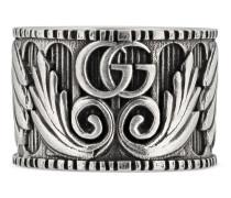 Doppel G Ring mit Blatt-Motiv
