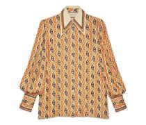 Bluse mit Marina-Ketten-Print und Schleife