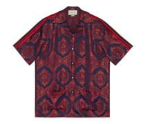 Bowling-Shirt aus Barock-Jacquard