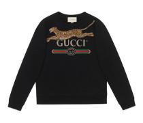 Pullover mit Gucci Logo und Leopard