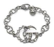 Doppel G Armband mit Kristallen