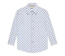 Hemd aus gestreifter Baumwolle mit Marienkäfern