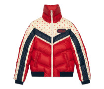 Jacke aus Nylon mit GucciPatch