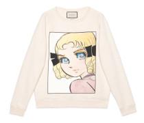 Pullover aus Baumwolle mit Manga-Print
