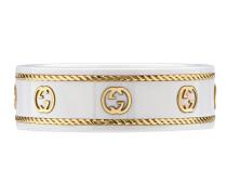 Icon Ring mit GG aus Gelbgold