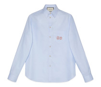 Hemd aus Oxford-Baumwolle mit GGStickerei