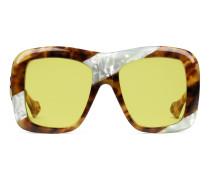 Übergroße Sonnenbrille mit eckigem Gestell