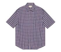 Übergroßes Hemd aus karierter Baumwolle