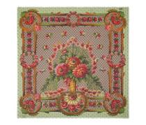 Halstuch aus Modal und Seide mit Blumenvase-Print
