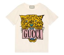 Übergroßes T-Shirt aus Baumwolle mit Tiger