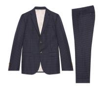 Monaco Anzug aus Wolle mit Punktemuster