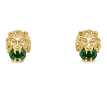 Löwenkopf-Ohrringe aus Gelbgold