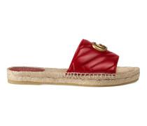 Espadrille-Sandale aus Leder