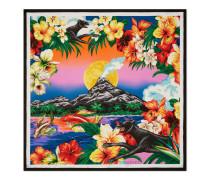Halstuch aus Seide mit Hawaii-Print