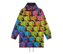 Jacke aus Nylon mit Panthergesicht