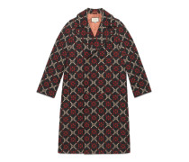 Mantel aus Wolle mit GGDiamond-Motiv