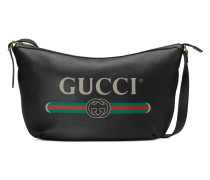 Halbmondförmige Hobo-Tasche mit Gucci Print
