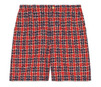 Shorts aus kariertem Tweed