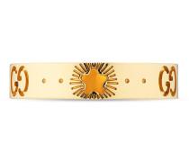 Icon Ring aus Gelbgold mit Sternen