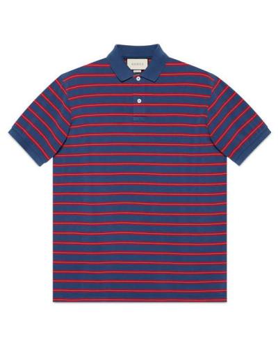 Poloshirt aus gestreifter Baumwolle