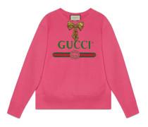 Pullover mit Gucci Logo mit Schleife