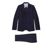 Monaco Anzug aus Wolle mit feinen Punkten