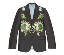 Heritage Jacke aus Wolle Mohair mit Drachen